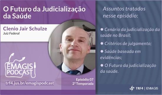 Judicialização da saúde no Brasil é tema do Emagis Podcast