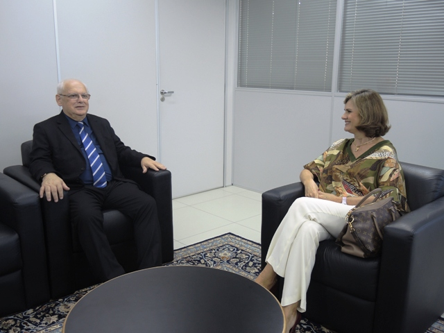 Presidente do TRT12 visita a sede da JFSC